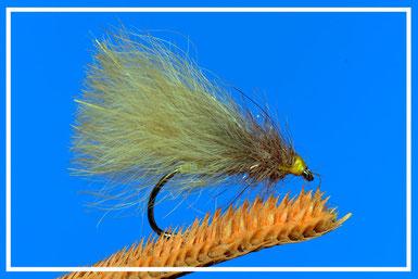 Foxy Lady Amo: # 12/16 Filo di montaggio: giallo Addome:pelo di volpe Torace: pelo di volpe montato ad asola Ali: pelo di volpe