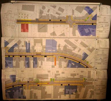 Plan der Umgestaltung Bochumer Straße: Foto: © W. Müller