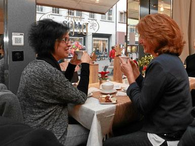 Kaffee und Kuchen im Café Angolo Dolce Liestalt