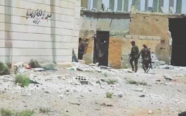 SDF-styrker i al-Raqqas ødelagte centrum,1. sept. 2017