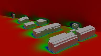 Turbulentes, drei-dimensionales Windfeld zur Simulation von Wärme- und Massentransfer in der urbanen Atmosphäre