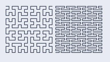 Hilbert curve and Peano curve