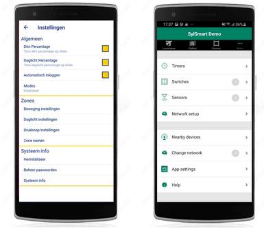 Via apps wordt het eenvoudiger om regelsystemen goed in dienst te stellen en performant te laten werken (bronnen: ETAP & Sylvania)