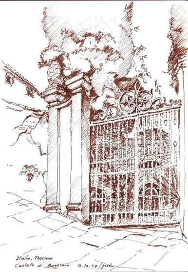 Castello di Buggiano 1997 (Filzstift)