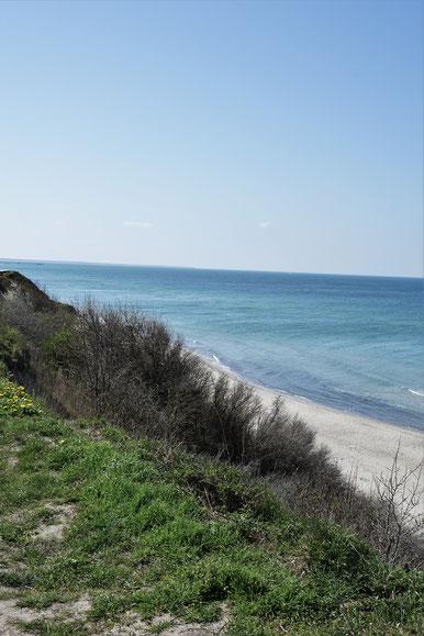 Zwischen Meer und Bodden . Fischland, Darß, Zingst, Teil II - Blick über die OstseeHohes Ufer