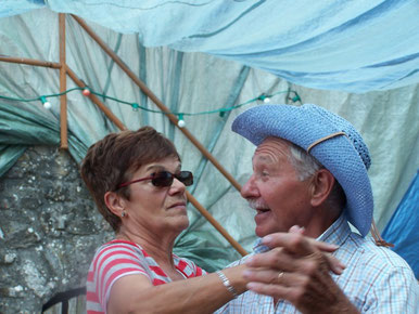 Avec Christiane à la Fête d' ESPARRON la Bâtie