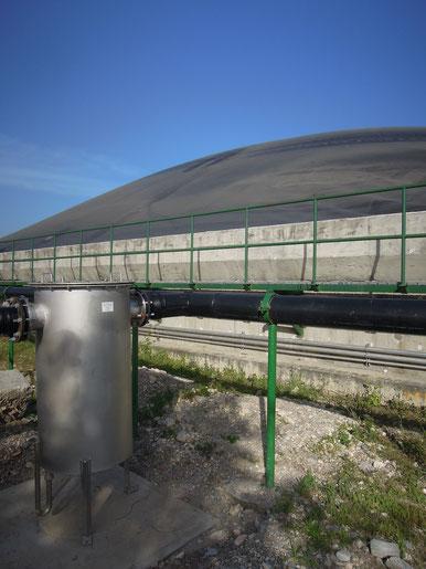 Filtro reducción de condensados biogas