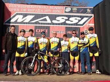 L'equip del Club Ciclista Banyoles