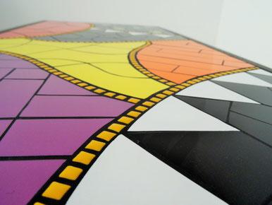 Table basse d'intérieur en mosaïque - Zam-création