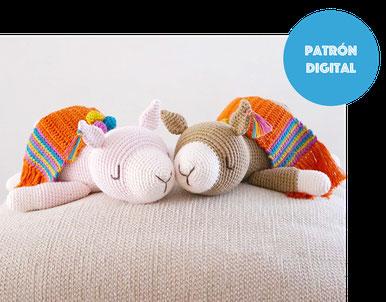 Unicorno dormilón tejido a crochet (amigurumi)
