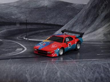 AURORA AFX BMW M1 ProCar Andy Wahol #76