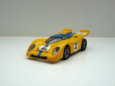 Faller AMS AURORA AFX Porsche 917k gelb/blau #2 -klare Scheibe
