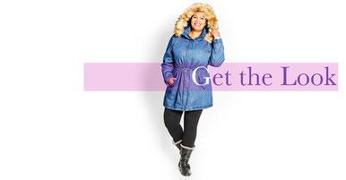 cooler Street Syle Look für mollige junge Frauen , Lederblouson in großen Größen