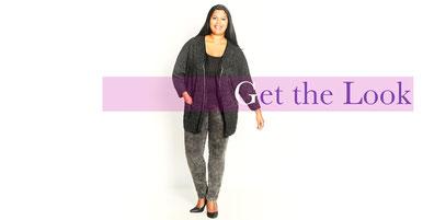 Damen Strick Jacke in große Größen