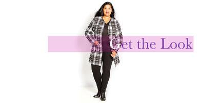 trendige Kollektion an Mänteln für große Größen , cooler Street Style Look