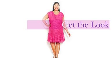 langes elegantes Kleid in Größe 50