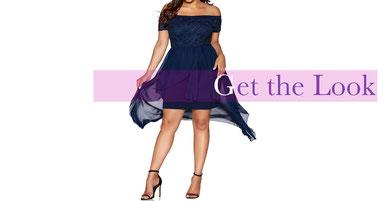 blaues elegantes Kleid in Größe 44