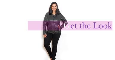 elegante Lederjacke in Größe 52 , Plus Size Mode zu günstigen Preisen