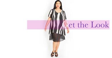 hochmodische Kleid in Größe 50 , Stylingtipps für mollige Frauen