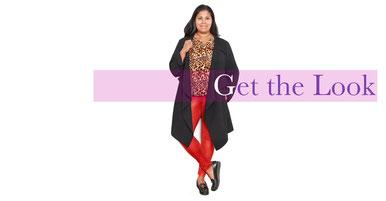 schwarzen Mantel in Größe 50 , coole Looks für junge kurvenreiche Frauen