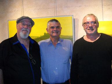 le maire jean marc dumoulin et les artistes - 2014