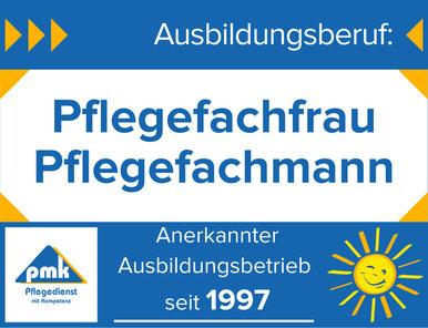 """PMK-Pflegedienst bildet aus: Ausbildungsberuf """"exam. Altenpfleger/in"""""""