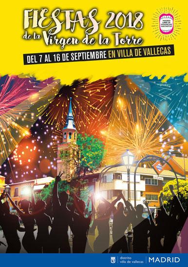 Fiestas de Villa de Vallecas Programa y Cartel