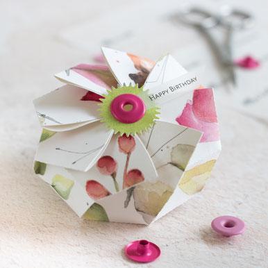 Oktagon-Plissee-Box