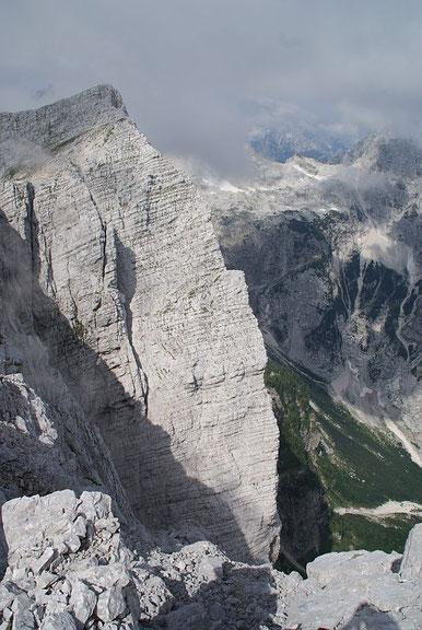 Der Travnik mit der beeindruckenden Nordwand, welche schon Reinhold Messner wegen der tollen Kletterrouten schätzte