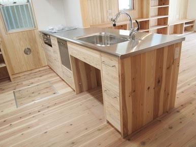 木玩の家 造作キッチン