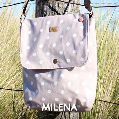 Julia Design Handarbeit handmade Tasche bag Stoff Umhängetasche Milena