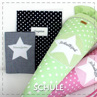 Schultüte Zuckertüte Schulanfang Einschulung erster Schultag Schule Stoff Julia Design handmade