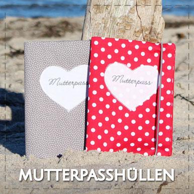 Julia Design handmade Handarbeit Baumwolle schöne Mutterpasshülle Mutterpass Hefthülle