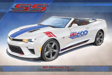 2017 Camaro SS INDY 500 Official Vehicle drawing, 2017 Camaro SS Indy 500 Official Vehicle drawing