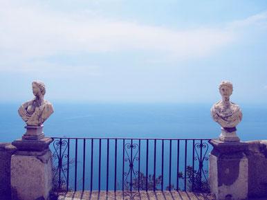 Terrazzo dell'infinito Villa Cimbrone Ravello Jardins Gardens Côte Amalfitaine