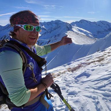 Bergführer Klaus Gruber erklärt die Bergwelt