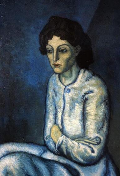 Самые известные картины Пикассо - Женщина со скрещенными руками