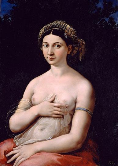 """Самые известные картины Рафаэля - """"Форнарина"""" (1518)"""