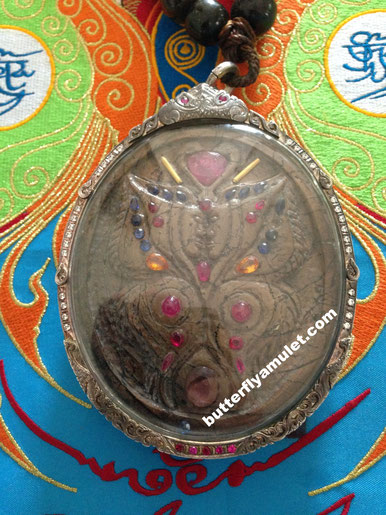 Kruba Krissana Handmade Petrified Ivory Amulet