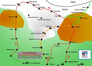 Circuits de treks autour du Manaslu