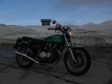 Moped ist entmottet, die villacher Alpenstraße, im Tal waren noch18 grad :-)