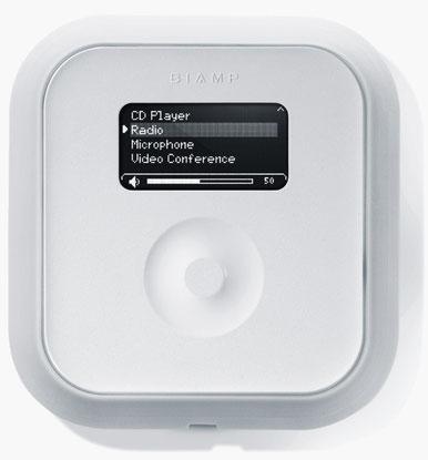 tesira, TEC-1 F , control de audio para pared