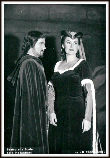 Il Conte di Luna - IL TROVATORE - con Margherita Roberti  Milano Teatro alla Scala 1959