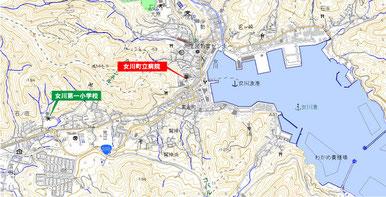 女川町中心市街地図