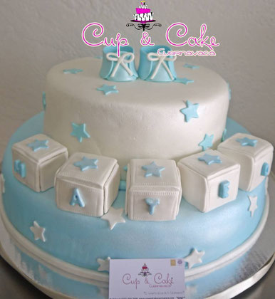Pasteles De Fondant Para Baby Shower Primera Comunion Bautizo Cup