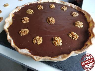 recette tarte cara-choco noix sans gluten sans lactose