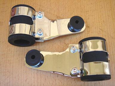 Éstos soportes portafaros son muy bonitos, mezcla la goma con metal cormado, aunque son un poco caros, unos 40€