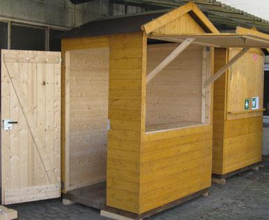 Kassenhaus aus Holz mieten