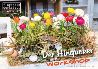 Floristikwerkstatt Hladovsky Ebreichsdorf Workshop Floristik-Kurs Ausbildung Tischgesteck Tischdekoration Doityourself DIY