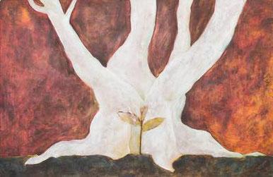 2013年油彩作品「芽」
